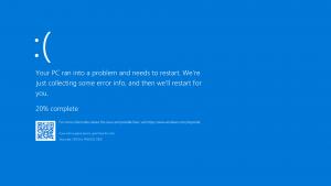 Cıktı alırken mavi ekran hatasi